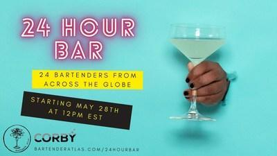 BARTENDER ATLAS AND CORBY SPIRIT AND WINE PRESENTS: 24 HOUR BAR (CNW Group/Corby Spirit and Wine Communications)