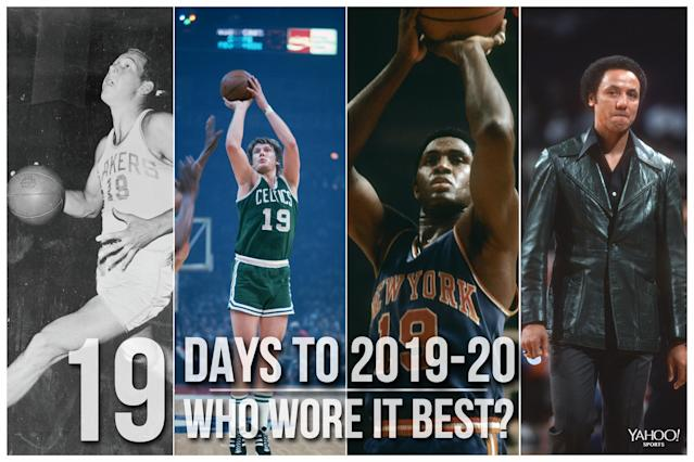 Which NBA player wore No. 19 best?