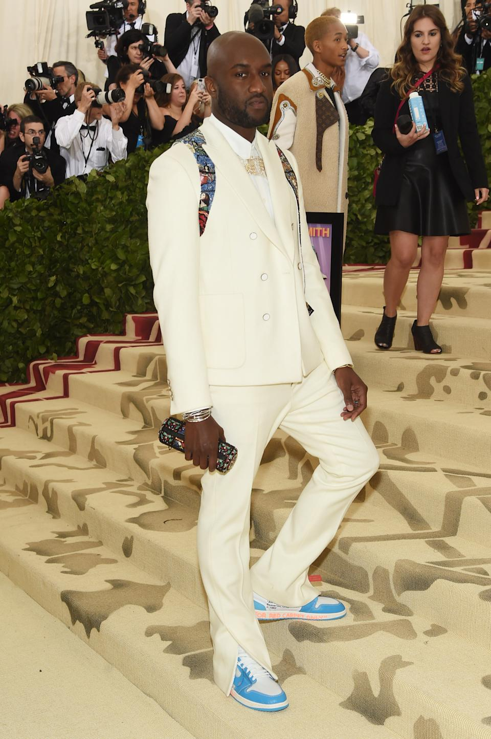 """<h1 class=""""title"""">Virgil Abloh in Louis Vuitton and Off-White x Nike shoes</h1><cite class=""""credit"""">Photo: Getty Images</cite>"""