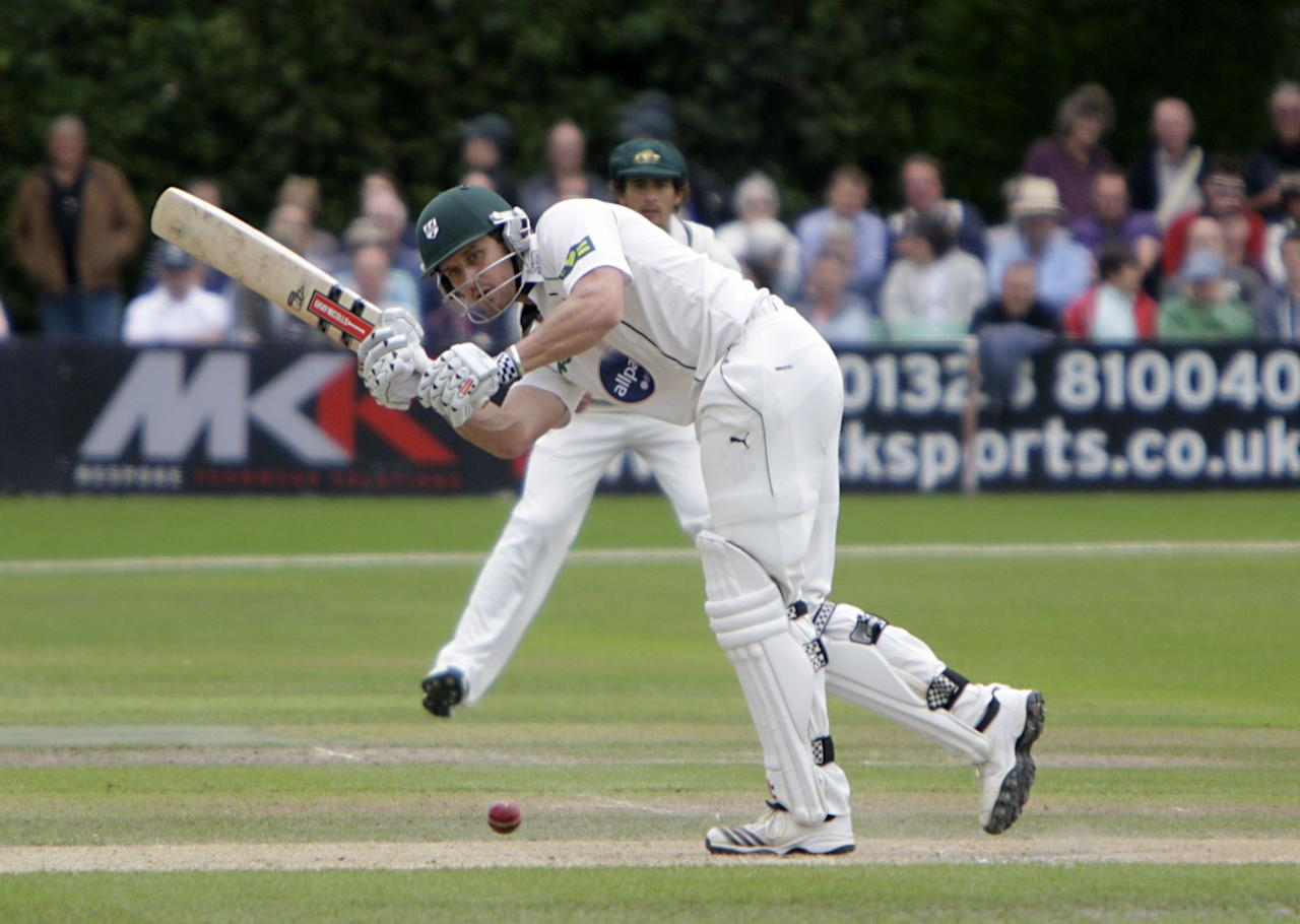 Essex's Nick Compton bats during day two of the International Warm up match at New Road, Worcester.