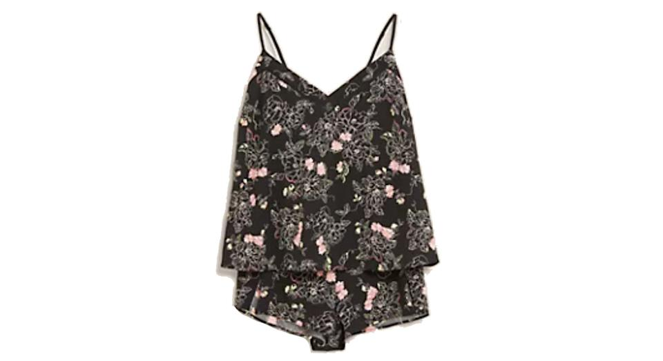 Floral Tattoo Print Cami Set