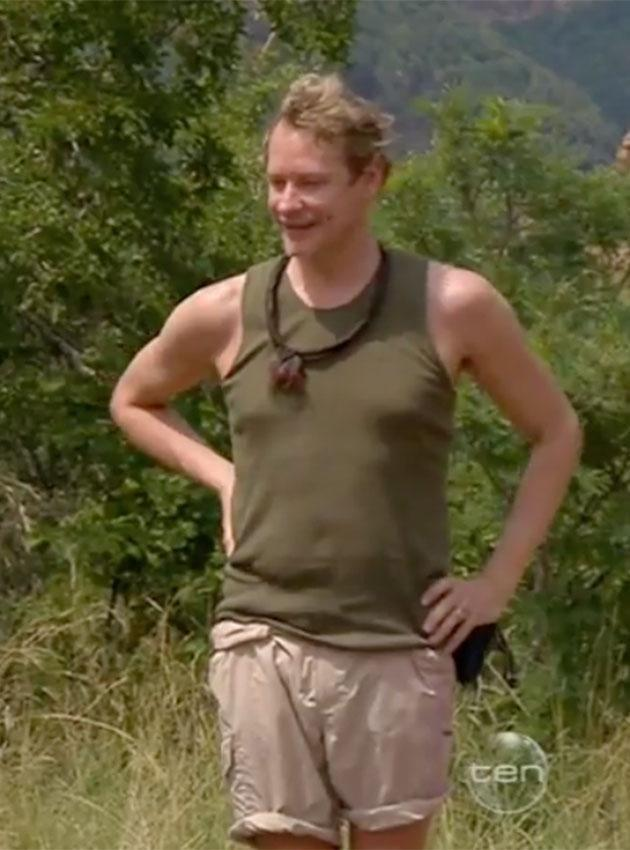 Carson entered the jungle two weeks ago and has lost 4kg as well. Source: Channel 10
