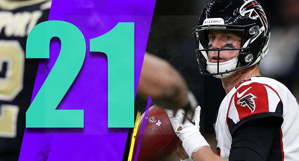 <p>Matt Ryan leads the NFL in passing yards, with a higher completion percentage and lower interception percentage than he had his MVP season. (Matt Ryan) </p>