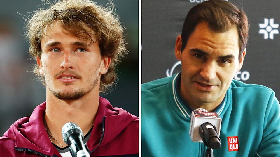 Roger Federer says he has not taken a specific view of abuse allegations levelled against Alexander Zverev last year. Pictures: Getty Images