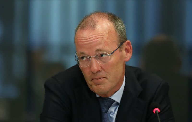 ECB board member Knot appears at a Dutch parliamentary hearing in The Hague