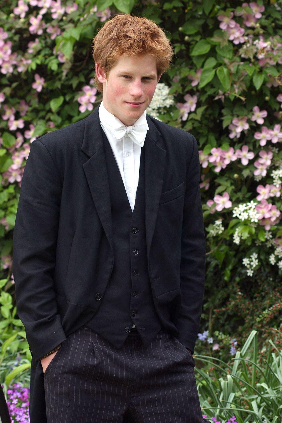 <p>Harry poses for a photo during his time at Eton College. </p>