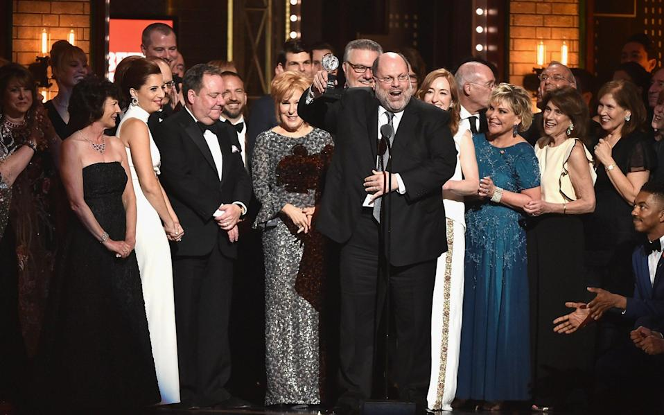 Scott Rudin (c) accepting a Tony for Hello, Dolly! in 2017 - Theo Wargo