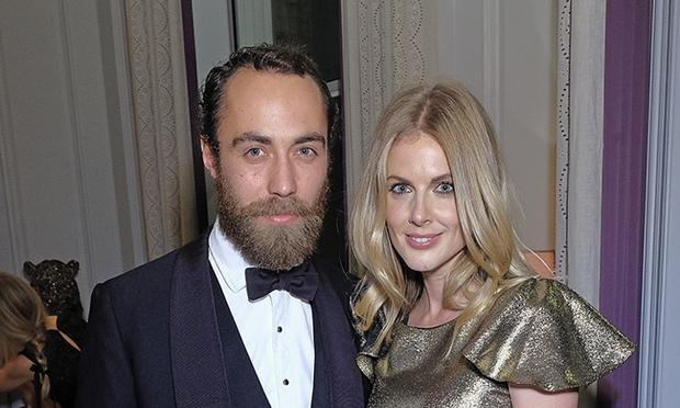 James Middleton and Donna Air dressed formally