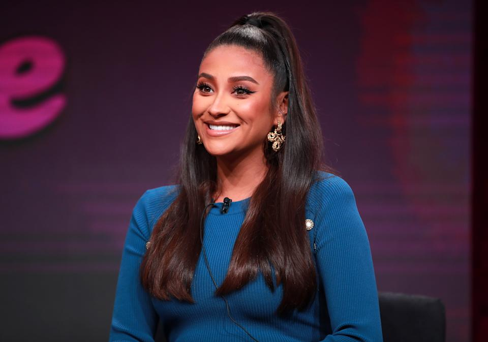 BEVERLY HILLS, CALIFORNIA - JULY 26: Shay Mitchell of 'Dollface' speaks onstage during the Hulu segment of the Summer 2019 Television Critics Association Press Tour at The Beverly Hilton Hotel on July 26, 2019 in Beverly Hills, California. (Photo by Rich Fury/Getty Images)