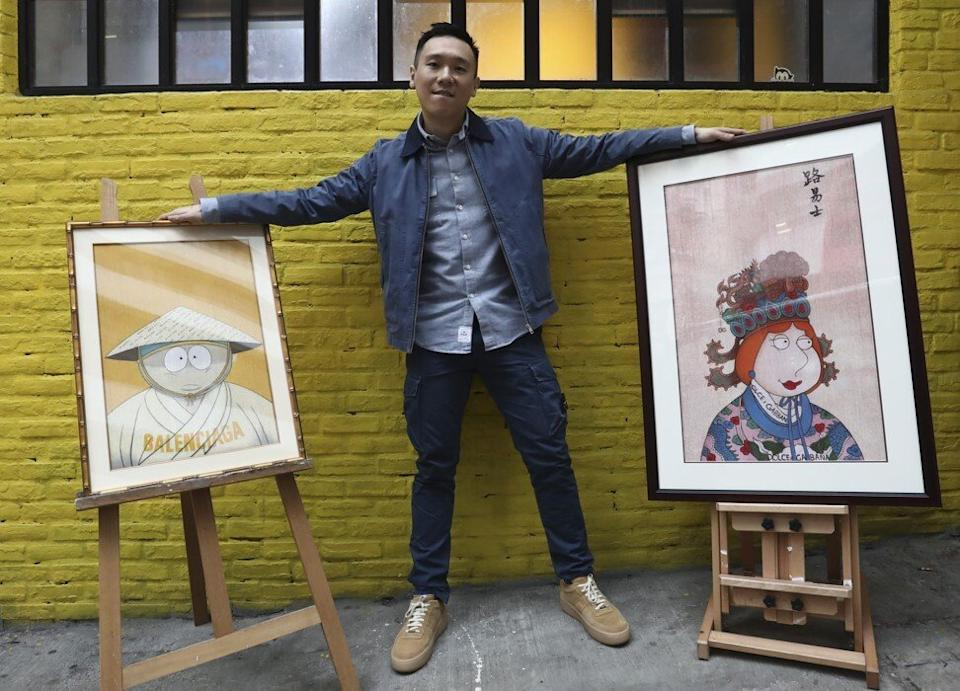 Ernest Chang at The Stallery gallery in Hong Kong. Photo: Jonathan Wong