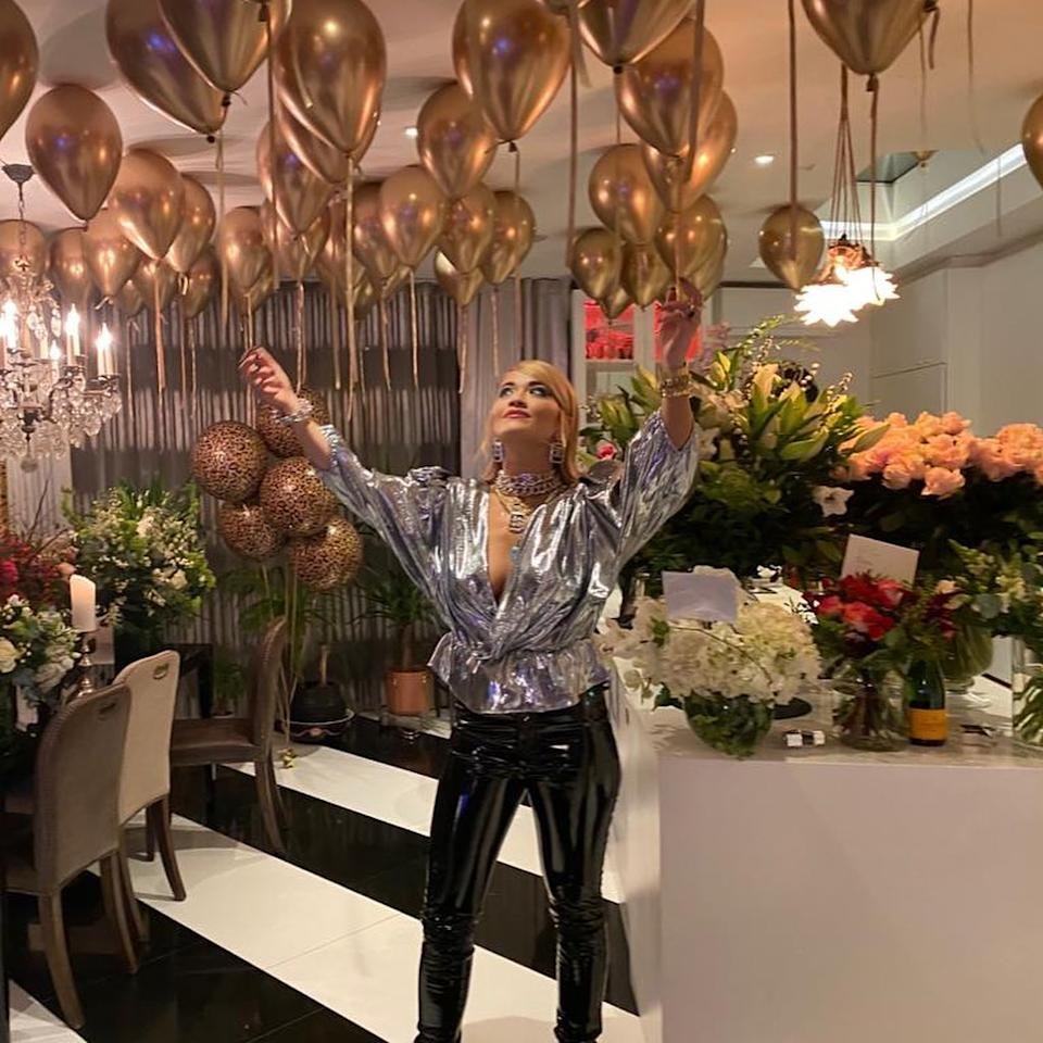 """Rita celebrated her birthday at home earlier in the week claiming """"it felt weird not doing anything for my bday"""". Photo: Instagram/RitaOra"""