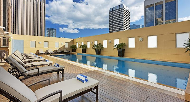 Swissotel pool on the roof top