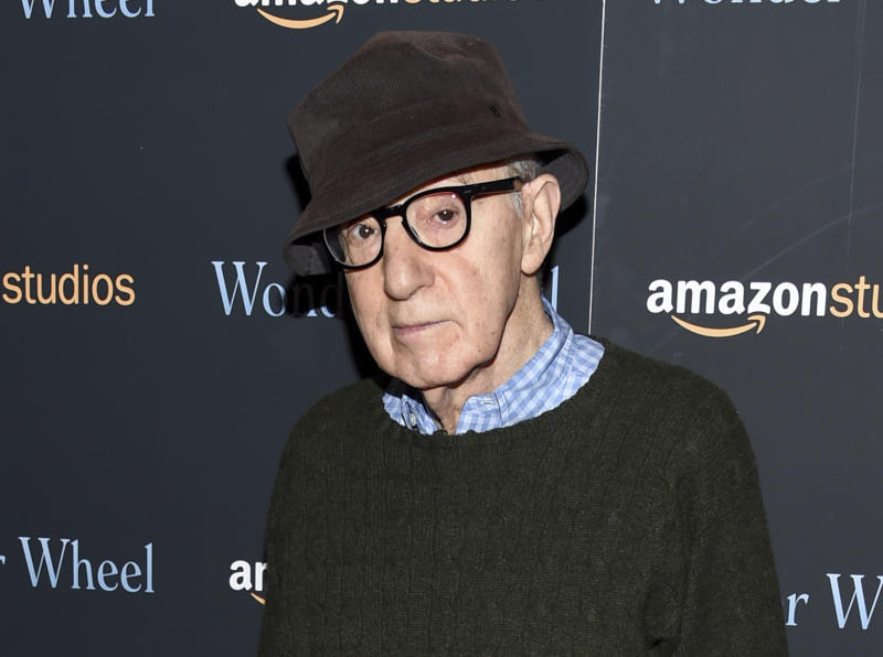 "FILE - In this Nov. 14, 2017 file photo, director Woody Allen attends a special screening of ""Wonder Wheel"" in New York. On Friday, April 12, 2019, an Amazon lawyer said the filmmaker breached his four-movie deal with the online giant by making statements about the #MeToo movement that damaged prospects for promoting his films. Attorney Robert Klieger told a Manhattan federal judge that the company protected itself after Allen made comments that at a minimum were insensitive. (Photo by Evan Agostini/Invision/AP, File)"