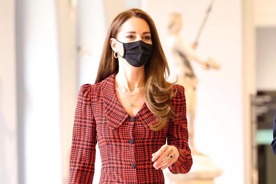 <p>Kate visited the museum on Wednesday to view two new exhibitions as it reopens to the public for the first time this year</p> (Jonathan Buckmaster)