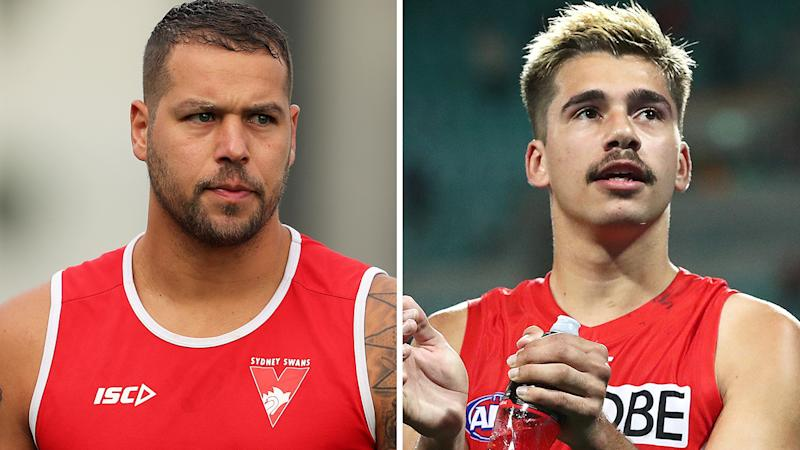 Sydney Swans star Lance Franklin has defended rookie teammate Elijah Taylor, after he was swamped with racist abuse on social media following his breach of the AFL's coronavirus rules. Pictures: Getty Images