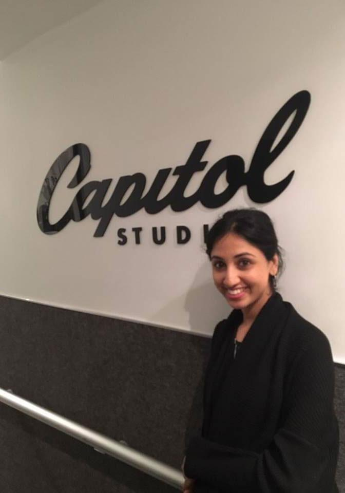 Before the Grammys, I went on a tour through Capitol Records. Source: Supplied