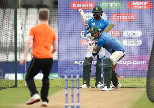 Steyn, batting, missed last summer's World Cup due to a shoulder injury (Nigel French/PA)