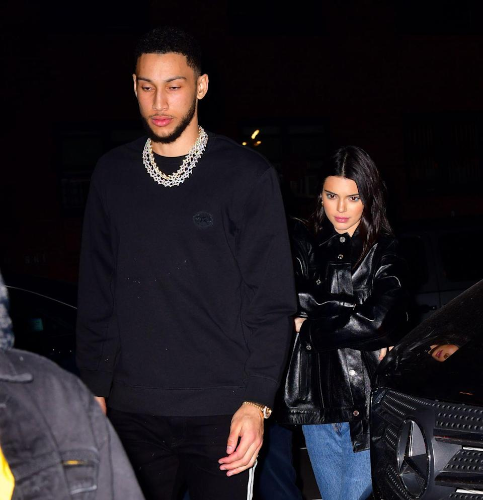 """<p>Jenner and NBA star Simmons first <a href=""""https://www.usmagazine.com/celebrity-news/news/is-kendall-jenner-dating-nba-star-ben-simmons/"""" rel=""""nofollow noopener"""" target=""""_blank"""" data-ylk=""""slk:got together in May 2018"""" class=""""link rapid-noclick-resp"""">got together in May 2018</a>. They started seeing each other again a few months later, then split up again in May 2019. But in December 2019, <a href=""""https://www.eonline.com/news/1103187/kendall-jenner-sparks-ben-simmons-reconciliation-rumors-after-attending-his-basketball-game"""" rel=""""nofollow noopener"""" target=""""_blank"""" data-ylk=""""slk:they sparked rumors"""" class=""""link rapid-noclick-resp"""">they sparked rumors</a> that they might be starting something up again. Jenner<a href=""""https://www.elle.com/culture/celebrities/a30374327/kendall-jenner-new-years-eve-ben-simmons/"""" rel=""""nofollow noopener"""" target=""""_blank"""" data-ylk=""""slk:spent New Year's Eve"""" class=""""link rapid-noclick-resp""""> spent New Year's Eve </a>with Simmons, and <em>People </em><a href=""""https://www.elle.com/culture/celebrities/a30653028/why-kendall-jenner-ben-simmons-dating-january-2020/"""" rel=""""nofollow noopener"""" target=""""_blank"""" data-ylk=""""slk:later reported"""" class=""""link rapid-noclick-resp"""">later reported</a> they're dating again for now.</p>"""