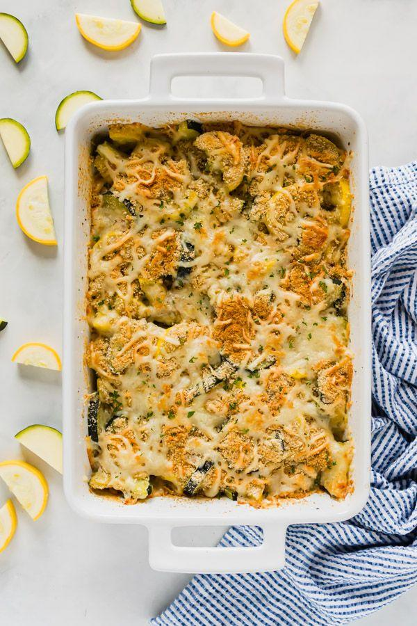 """<p>Serve this easy squash casserole that's a guaranteed crowd-pleaser, topped with plenty of cheese and breadcrumbs.</p><p><strong>Get the recipe at <a href=""""https://www.thelifejolie.com/cheesy-squash-casserole/"""" target=""""_blank"""">The Life Jolie</a>. </strong></p><p><strong><a class=""""body-btn-link"""" href=""""https://www.amazon.com/Rachael-Ray-58314-Stoneware-Casserole/dp/B00K8QXBXY/ref=sr_1_5?tag=syn-yahoo-20&ascsubtag=%5Bartid%7C10050.g.1553%5Bsrc%7Cyahoo-us"""" target=""""_blank"""">SHOP CASSEROLE DISHES</a><br></strong></p>"""