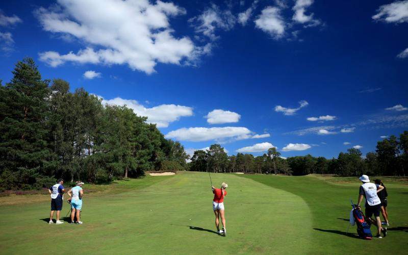 Hull carded a remarkable seven-under at The Berkshire in the second round of the Computacenter Grand Final - Getty Images