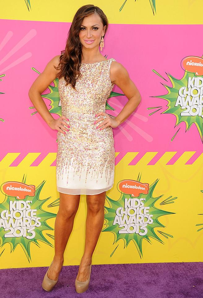 LOS ANGELES, CA - MARCH 23:  Karina Smirnoff arrives at the Nickelodeon's 26th Annual Kids' Choice Awards at USC Galen Center on March 23, 2013 in Los Angeles, California.  (Photo by Steve Granitz/WireImage)