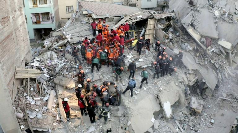 Nearly 2,000 search and rescue personnel were sent to the region while thousands of beds, blankets and tents have been provided (AFP Photo/-)