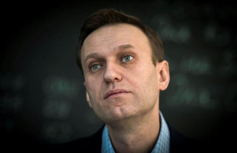 Russian opposition leader Alexei Navalny spoke to AFP at the office of his Anti-corruption Foundation (FBK) in Moscow on January 16, 2018