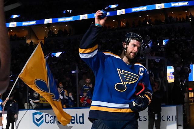 Alex Pietrangelo and the St. Louis Blues aren't experiencing a Stanley Cup hangover. (Photo by Joe Puetz/NHLI via Getty Images)