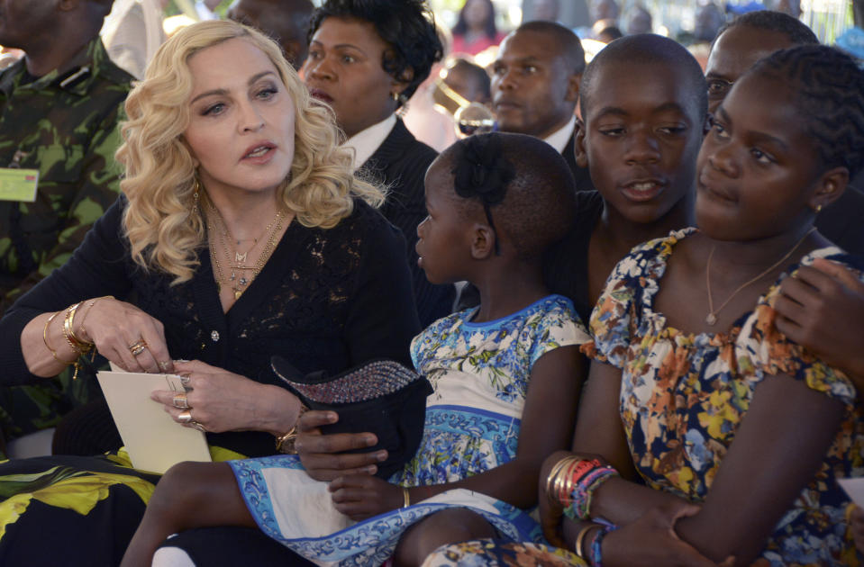 Madonna got her tattoo in tribute to her children. (Photo: AP)
