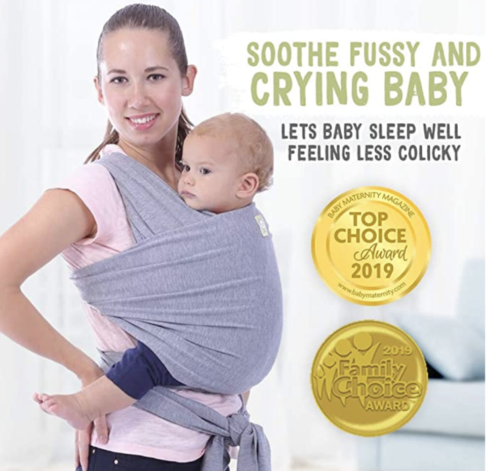 KeaBabies Baby Wrap Carrier All-in-1 Stretchy Baby Wraps. PHOTO: Amazon