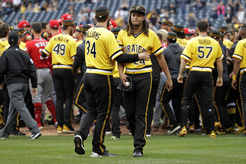 Major League Baseball hands down suspensions after Reds-Pirates bench-clearing fight