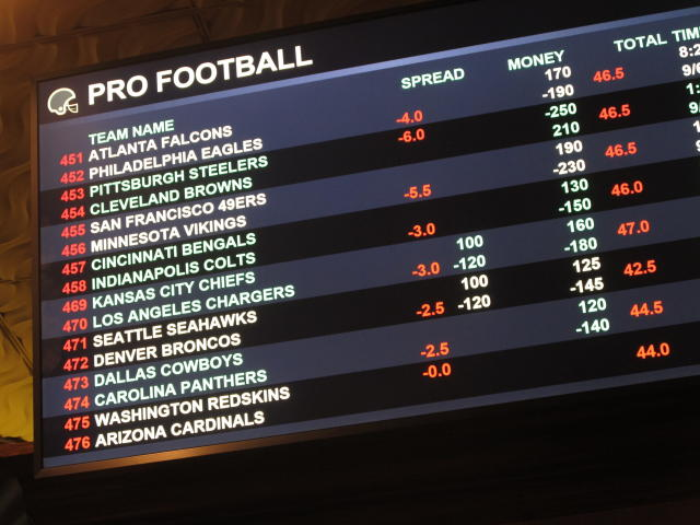 CBS will not mention gambling during NFL broadcasts in 2018. (AP Photo)