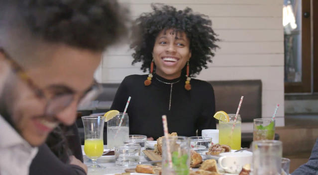 Screengrab of Gia Greer, a high school graduate from Brooklyn, New York City, who is taking a gap year before starting college had the capacity for passion projects. (Video still: Purpose/UNICEF)