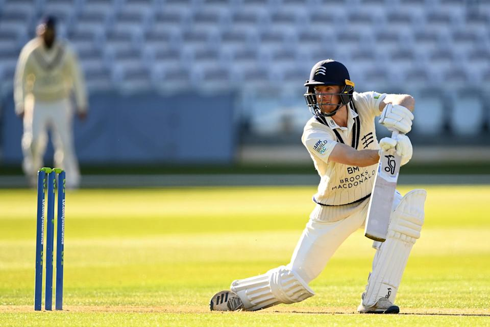 Robbie White on the drive against Surrey (Getty Images)