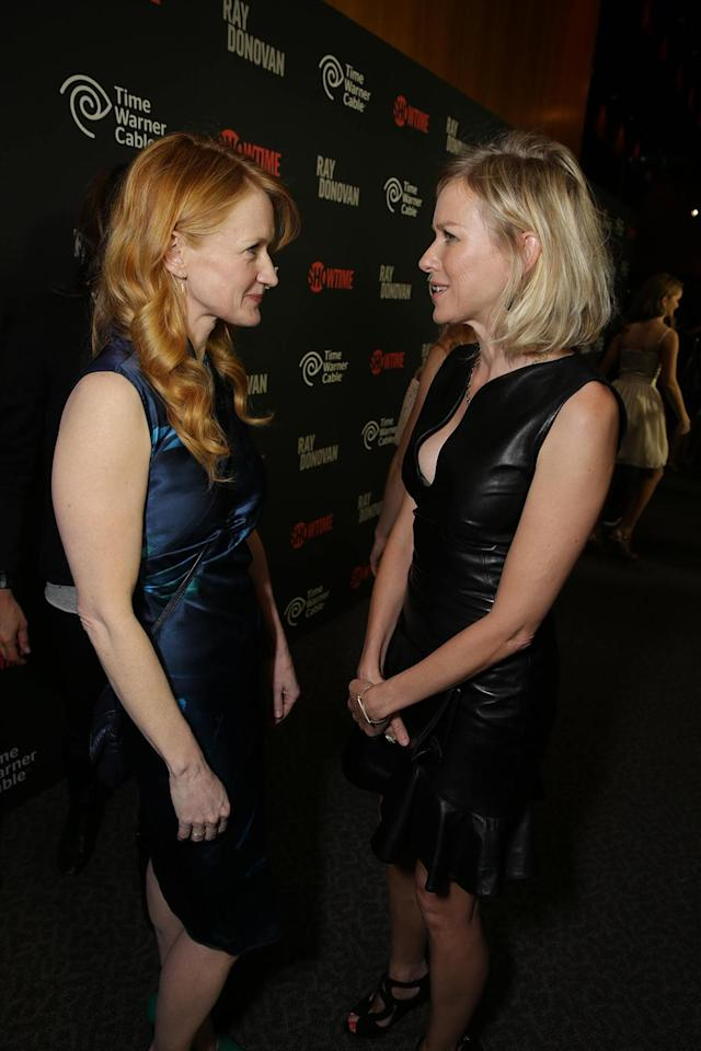 Paula Malcomson and Naomi Watts at the Showtime premiere of the new drama series Ray Donovan presented by Time Warner Cable, on Tuesday, June, 25, 2013 in Los Angeles. (Photo by Eric Charbonneau/Invision for Showtime/AP Images)