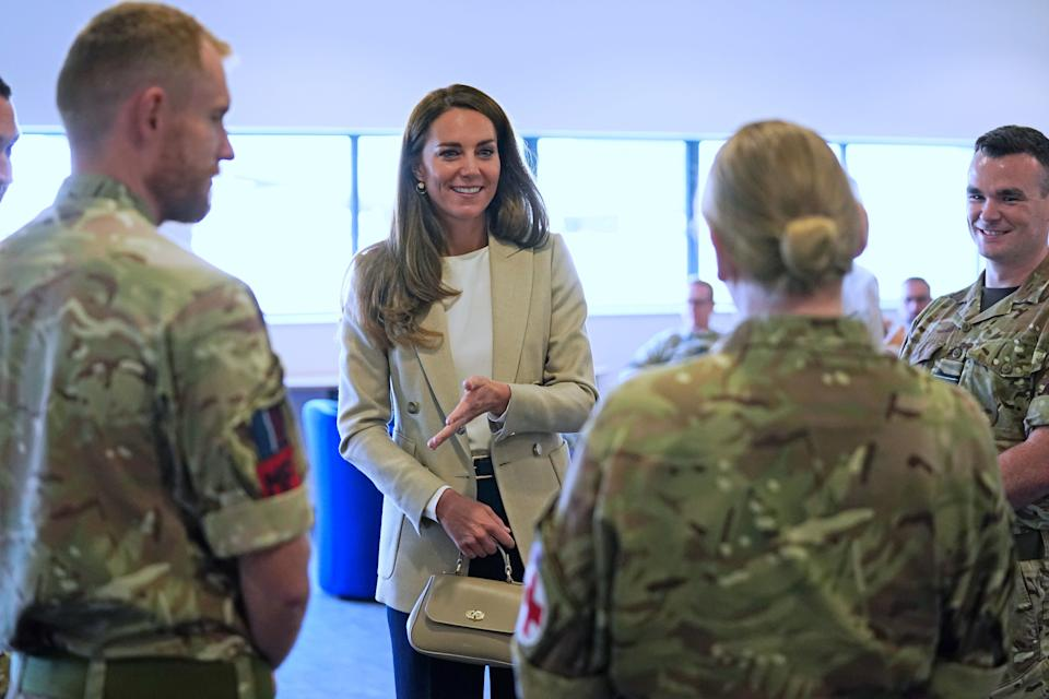 Duchess of Cambridge meets those who supported the UK's evacuation of civilians from Afghanistan