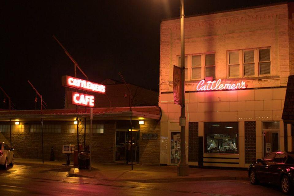 """<p>The Stockyard City district of Oklahoma City is home to this <a href=""""https://www.tripadvisor.com/Restaurant_Review-g51560-d400261-Reviews-Cattlemen_s_Steakhouse-Oklahoma_City_Oklahoma.html"""" rel=""""nofollow noopener"""" target=""""_blank"""" data-ylk=""""slk:famed restaurant"""" class=""""link rapid-noclick-resp"""">famed restaurant</a>. A crowd of ranchers, cowboys, and cattle haulers<span class=""""redactor-invisible-space""""> kept it busy long a</span>fter opening in 1910, and their """"perfect steak"""" still brings people through the doors.</p>"""