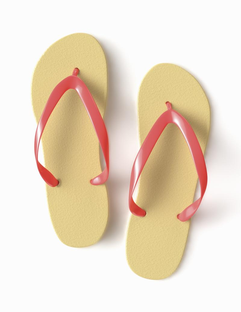 a936348b362e No One Sees Eye to Eye on What Color These Flip Flops Are