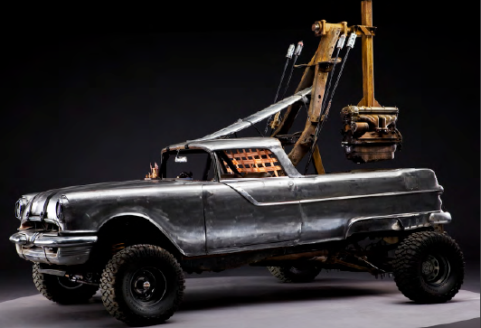 POLE CAR: PONTIAC SURFARI WITH 20' POLE COUNTERWEIGHT from Mad Max Fury Road