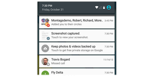 Android Lollipop notifications