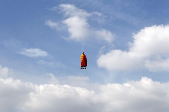 Paris's latest must-see: a gravity-defying monk