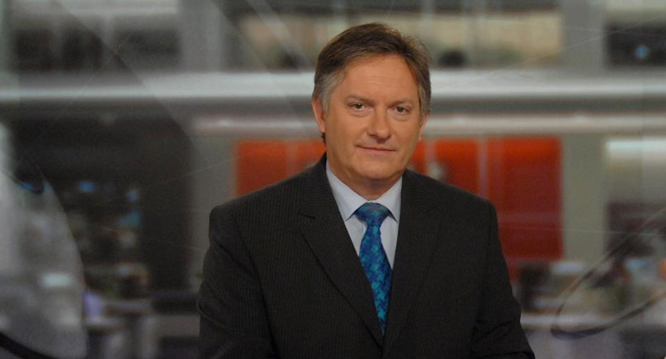 Simon McCoy asked viewers to wait six months before judging GB News. (Getty)
