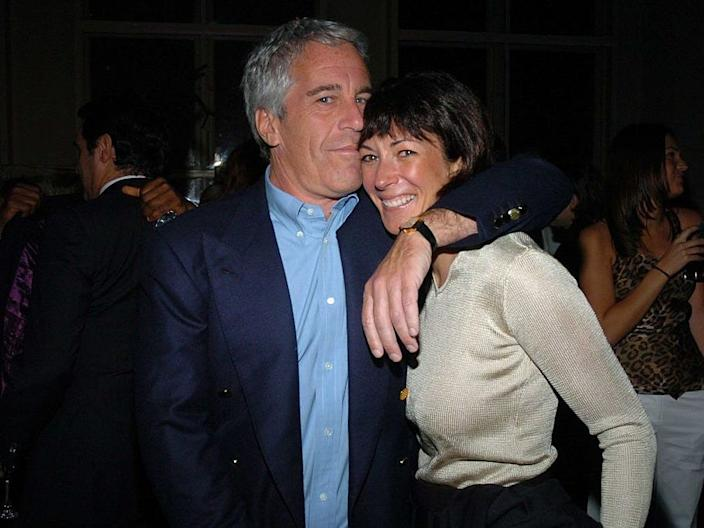 Jeffrey Epstein and former girlfriend Ghislaine Maxwell at Cipriani Wall Street in New York City on March 15, 2005.