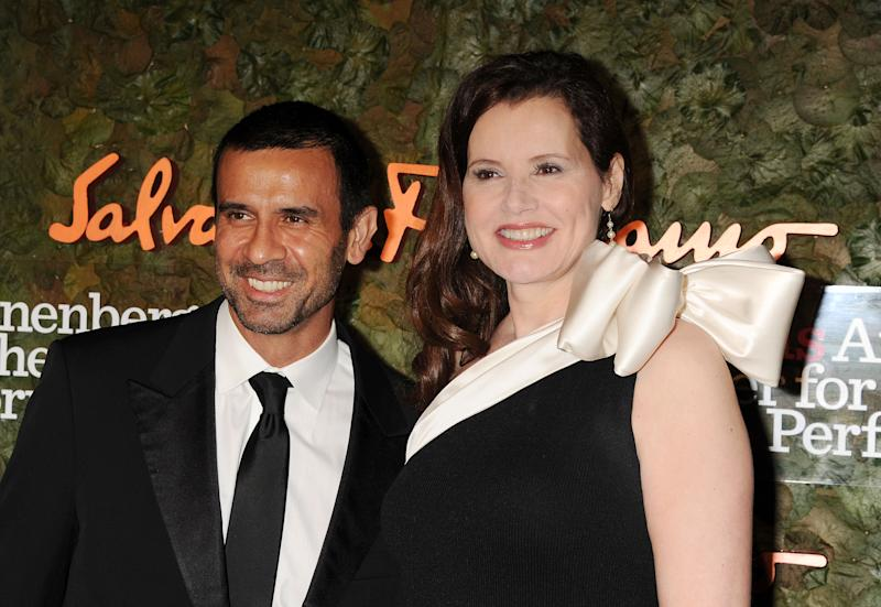 Reza Jarrahy and Geena Davis