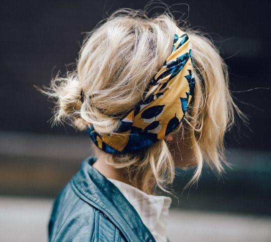 <p>Put your hair in a messy low bun, accessorise with a stylish scarf and you're sorted.<i>[Photo: Pinterest]</i><br /></p>