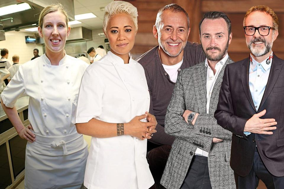 Top team: (from left to right) Clare Smyth, Monica Galetti, Michel Roux Jr, Jason Atherton and Massimo Bottura