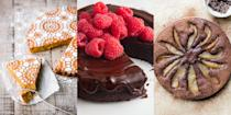 """<p>If you're looking for a flourless cake recipe that's actually worthwhile, then we've got you covered. Whether that's a <a href=""""https://www.delish.com/cooking/recipe-ideas/a19473626/best-flourless-chocolate-cake-recipe/"""" rel=""""nofollow noopener"""" target=""""_blank"""" data-ylk=""""slk:Flourless Chocolate Cake"""" class=""""link rapid-noclick-resp"""">Flourless Chocolate Cake</a>, <a href=""""https://www.delish.com/uk/cooking/recipes/a30868188/easy-gluten-free-cheesecake-recipe/"""" rel=""""nofollow noopener"""" target=""""_blank"""" data-ylk=""""slk:Gluten Free Cheesecake"""" class=""""link rapid-noclick-resp"""">Gluten Free Cheesecake</a> or <a href=""""https://theviewfromgreatisland.com/"""" rel=""""nofollow noopener"""" target=""""_blank"""" data-ylk=""""slk:Flourless Pumpkin Spice Cake"""" class=""""link rapid-noclick-resp"""">Flourless Pumpkin Spice Cake</a>, there's a number of ways you can enjoy the likes of a delicious cake, but without the flour. </p>"""
