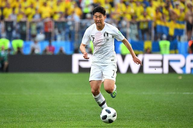 Son is South Korea's key player, but he struggled to make an impact against Sweden (AFP Photo/Johannes EISELE)