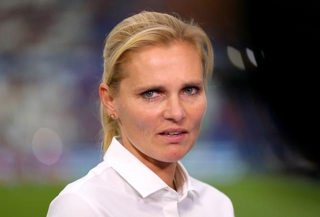 Riise is overseeing England as interim head coach before Sarina Wiegman (pictured) takes charge (Ricard Sellers/PA).