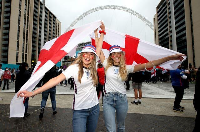 England fans have been out in force at Wembley this summer.